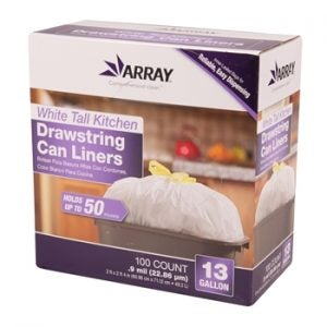 13-Gallon Drawstring Can Liners