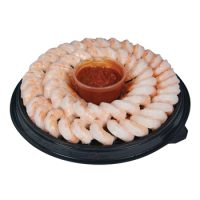 Cooked Shrimp Ring with Cocktail Sauce