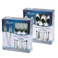 Reflections Silver Plastic Cutlery
