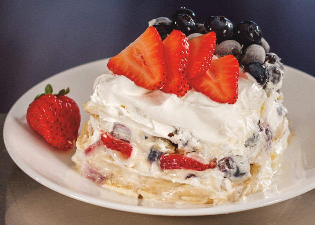 Strawberry-Blueberry-Cheesecake