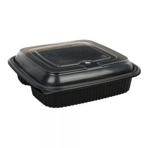 1 or 3-Compartment Containers & Lids