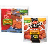Tyson Breaded Chicken Strips or Wings