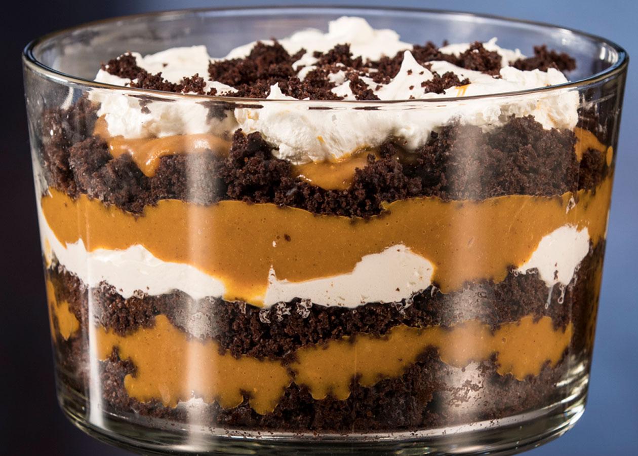 Pumpkin Butterscotch Chocolate Trifle