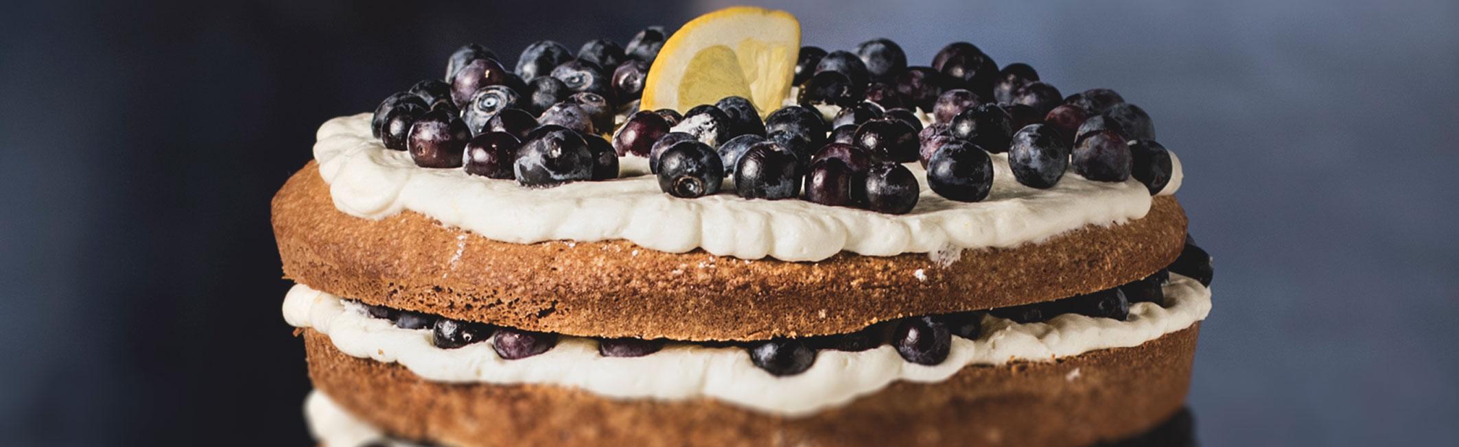GoFood Lemon Blueberry Cake